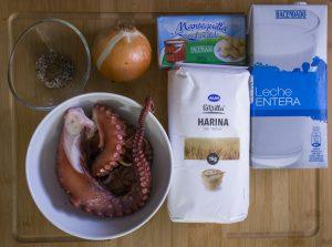 ingredientes de las croquetas de pulpo