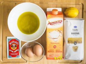 Ingredientes para magdalenas tradicionales