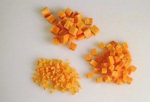 brunoise de zanahoria