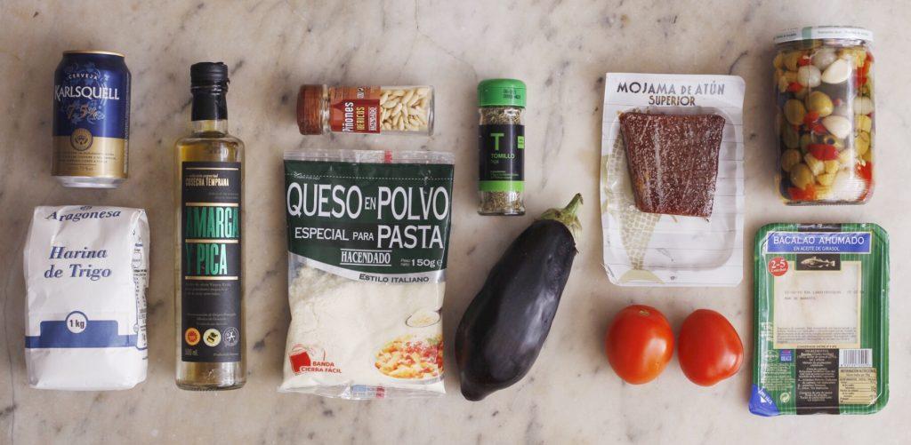 Ingredientes para el aperitivo gourmet