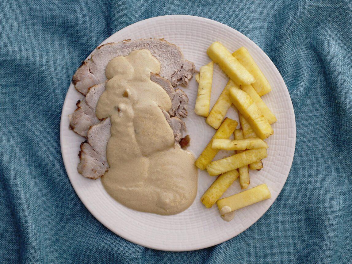 Lomo de cerdo a la piña listo para comer