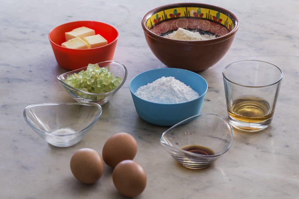 ingredientes para el plum cake