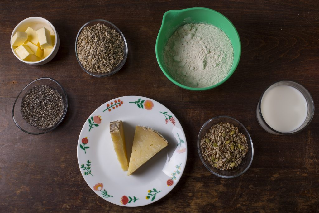 ingredientes de las magdalenas de queso al brandy