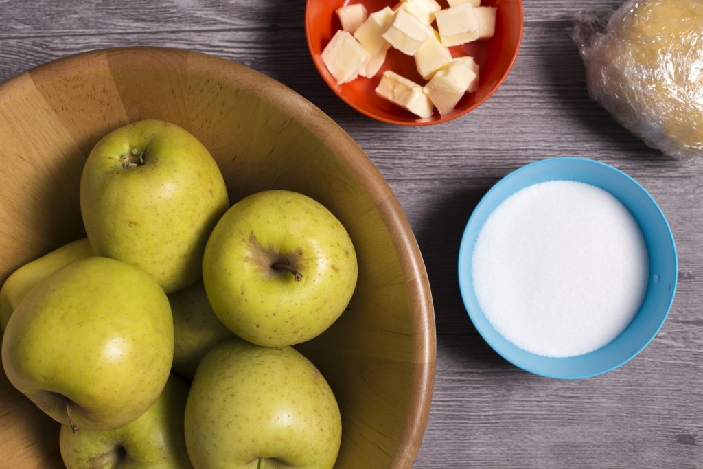 ingredientes para la tarta tatin de manzana