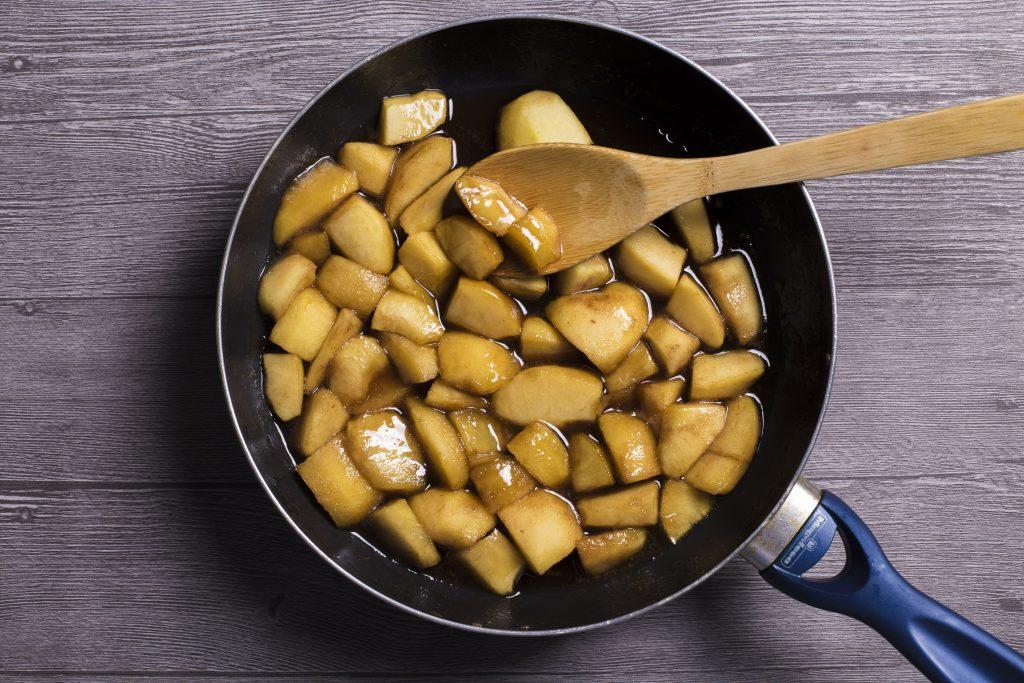 caramelizado para la tarta tatin de manzana