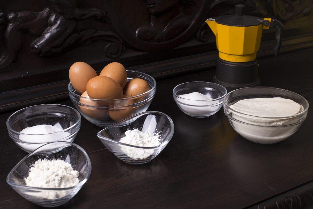 Ingredientes para el tiramisú completamente casero