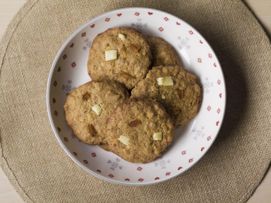 Cookies de queso y orejones listas para comer!