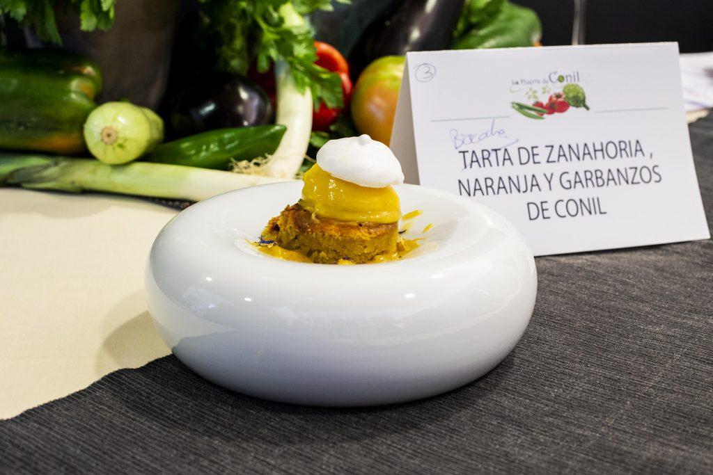 Plato 3 del concurso de la IX Jornada Gastronómica Huerta de Conil