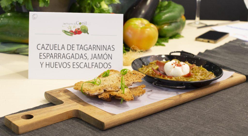 Plato 6 del concurso de la IX Jornada Gastronómica Huerta de Conil