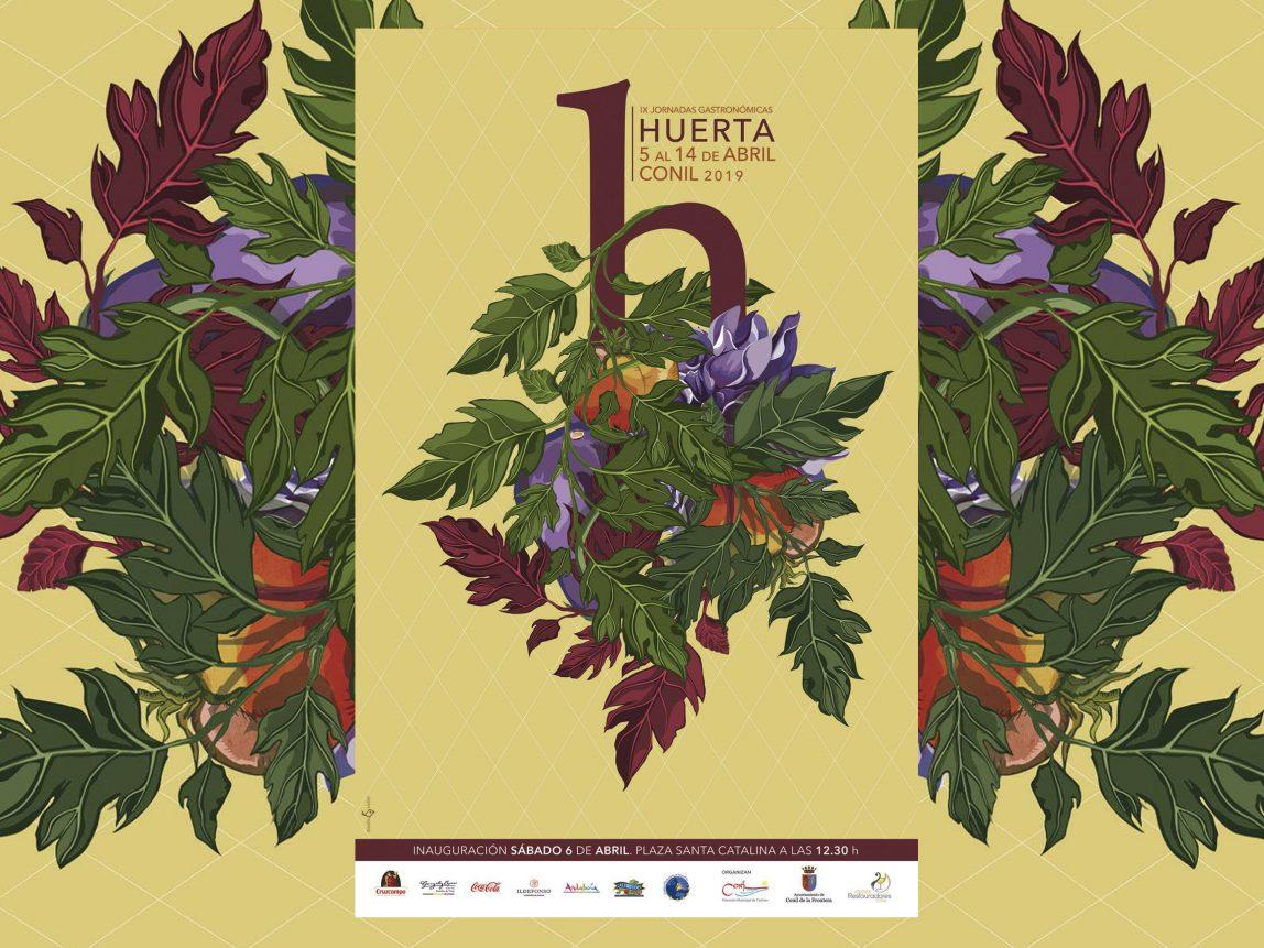 cartel IX Jornada Gastronómica Huerta de Conil