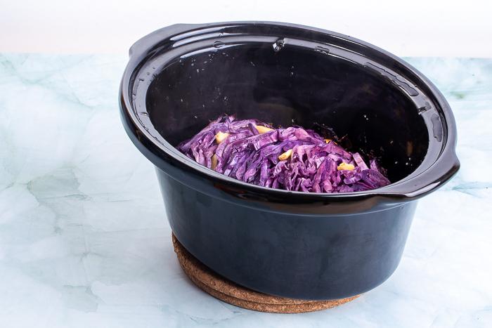 Lombarda cocinada en crockpot