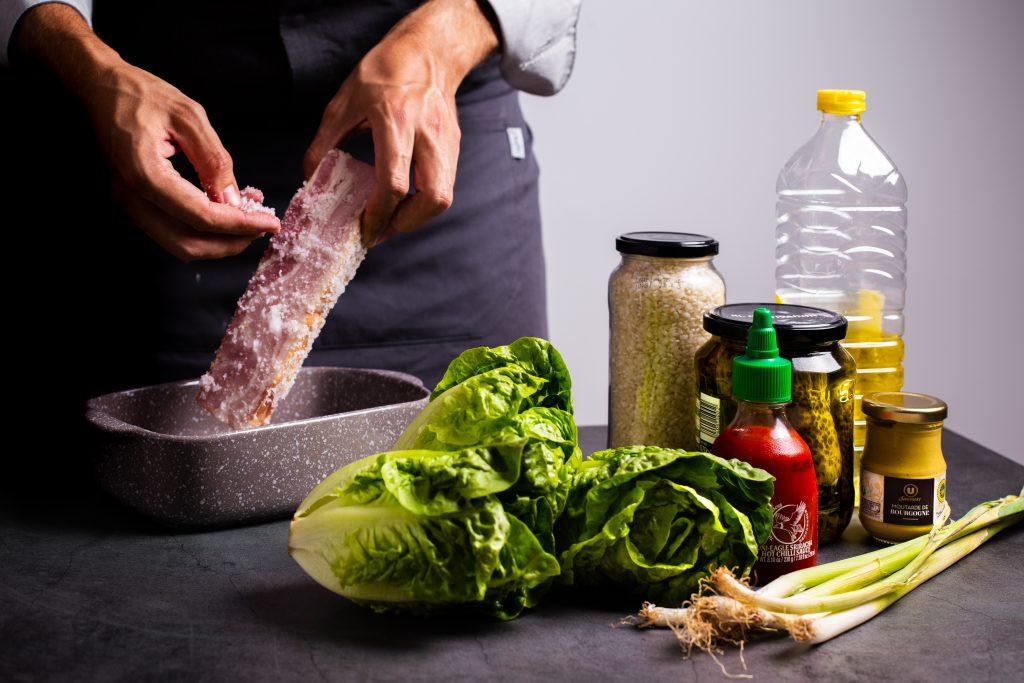 Ingredientes Ssam de panceta